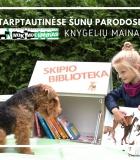 Keiskimės knygelėmis šunų parodoje