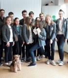 Šv.Kristoforo progimnazijos šeštokai bendravo su šunimis